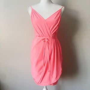 Yumi Kim Silk Jayne Dress In Hot Pink